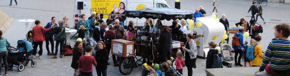 Tourstop des Info-Bus vom Deutschen Hebammenverband in Potsdam – ein Rückblick